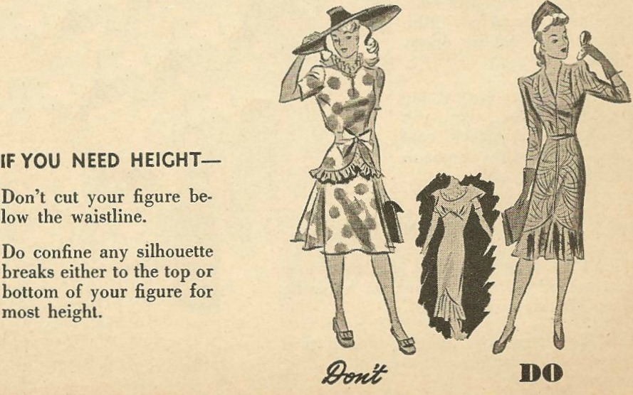 Fashion Do's and Don't's, 1940s