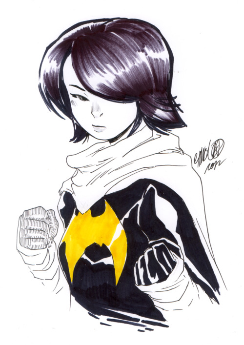 My latest art acquisition: Cassandra Cain by Jeffrey Cruz!