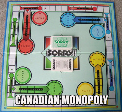 Isn't there another game called Sorry, eh?