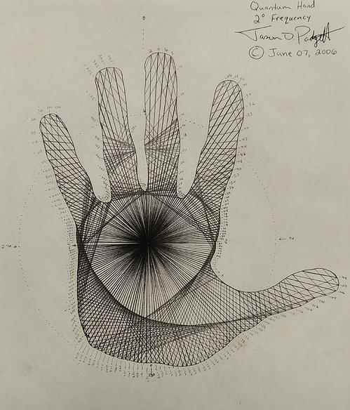 Quantum Hand Through My Eyes (2006) print, Jason Padgett.