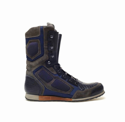 Lanvin Leather & Suede High-Top Hiker Boots