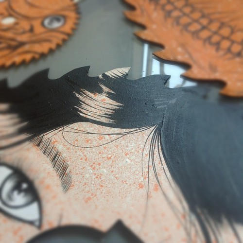 Sneak preview of a new series of saw blade #paintings for my #exhibition opening next week! #art #design #illustration #hongkong #asia #  (Taken with Instagram)