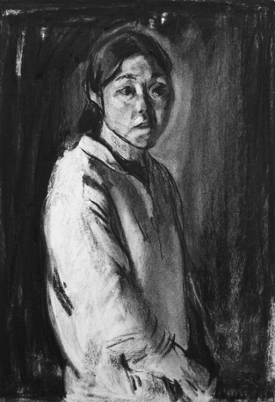 artin-studio:  charcoal portrait, 62 x 44 cm on Flickr.by Kouta Sasai