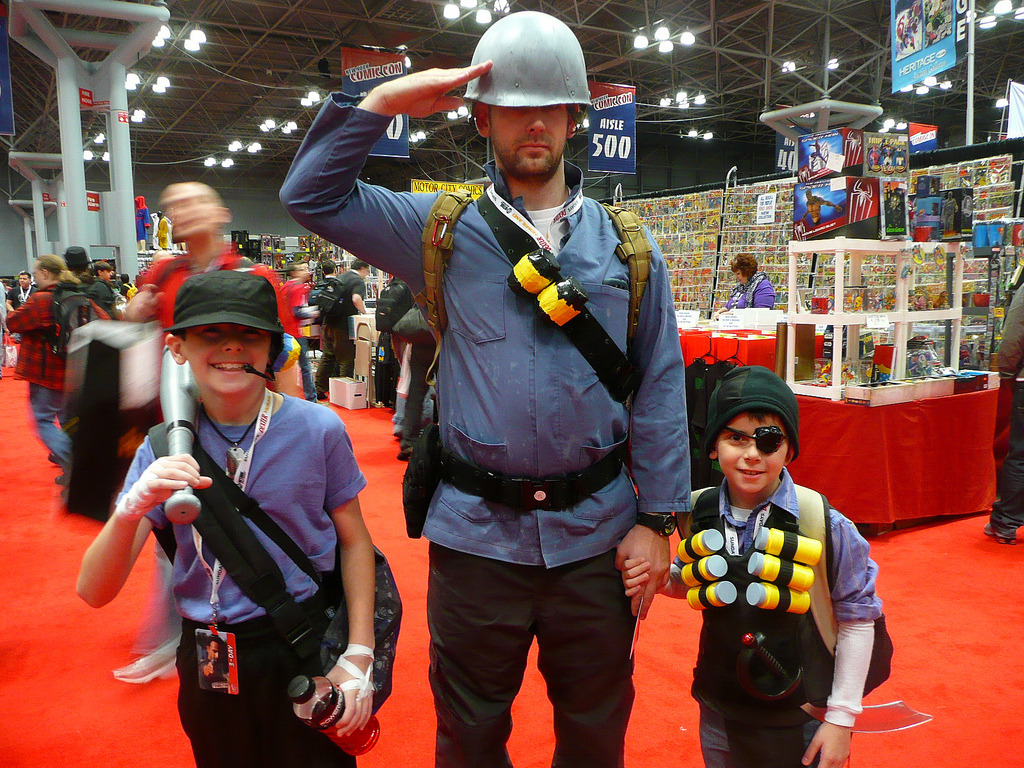 gamefreaksnz:  Scout, Soldier, and Demoman TF2 Cosplay @New York Comic Con Image by Steven Leung