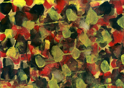 """Red Black Yellow-Green Undefined"" (Fragment) — Stephen C. Bird, 2012"