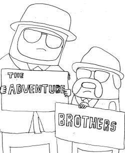 "Work in progress for ""The Adventure Brothers"""