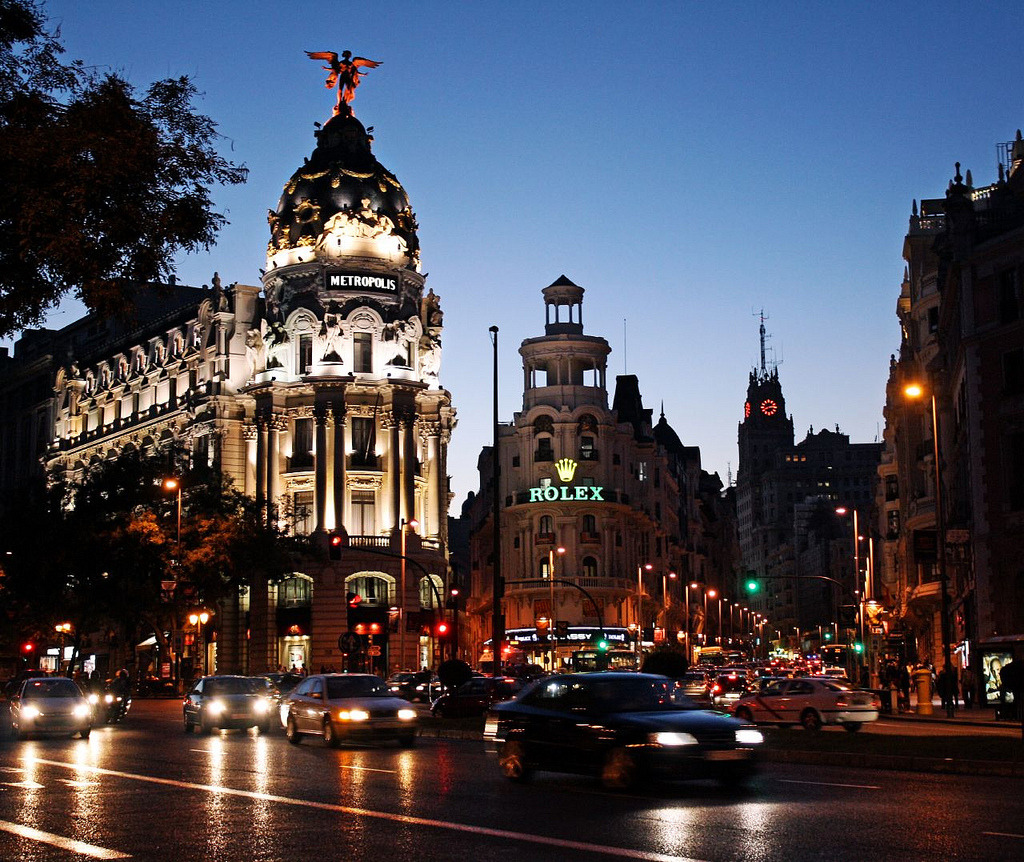 Gran Via, Madrid (by Dimitry B)