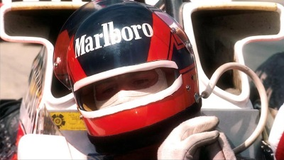 life in the cockpit …Gilles Villeneuve, Marlboro McLaren-Ford M23, 1977 British Grand Prix, Silverstone