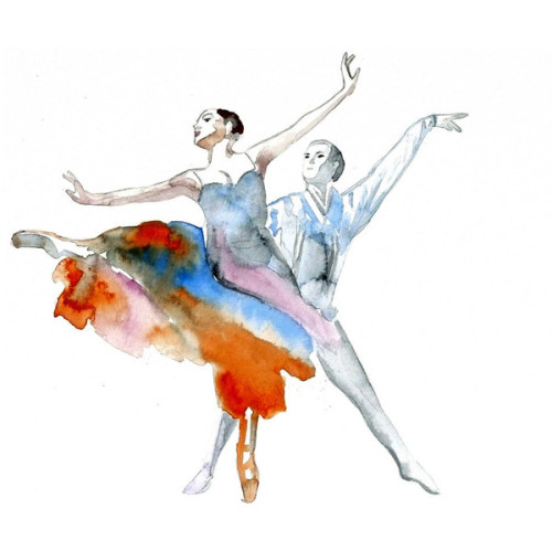 dianiko:   Ballet dance Ballerina ART PRINT 12X16 original watercolor painting… (clipped to polyvore.com)