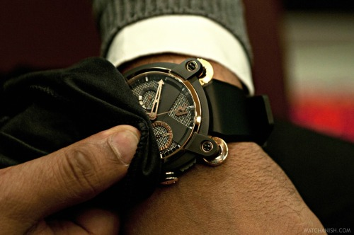 watchanish:  In recognition of a man free jumping from space…! :oThe Romain Jerome Moon Invader