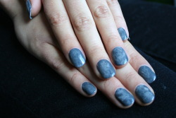 Grey marble. xx ManicMonday juliannemonday.com