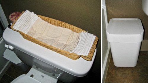 Reusable toilet paper. Really.Bottom line: The reusable model is always a more sustainable choice than the disposable alternative.
