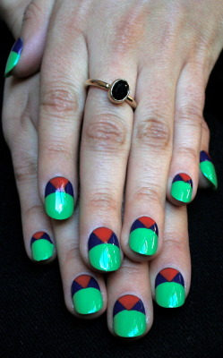 Bright geometrics. xx ManicMonday juliannemonday.com