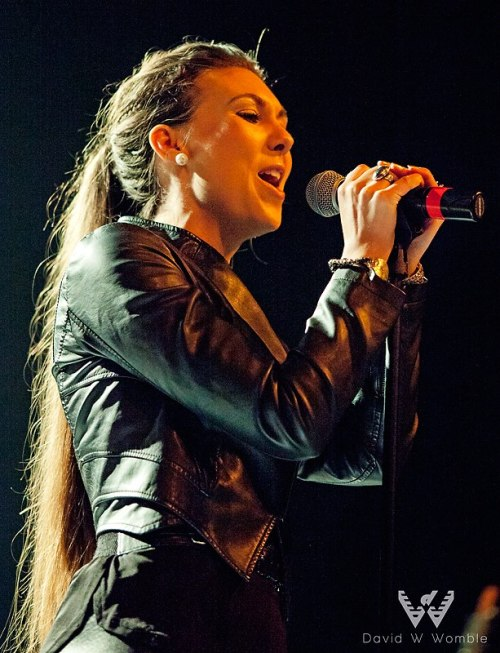 Elize Ryd during Amaranthe's USA debut at ProgPower USA XIII in Atlanta Sept. 14, 2012Photo by David Womble