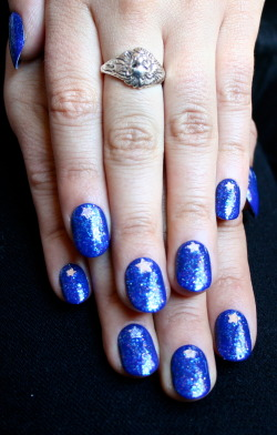 Sparkle blue. And stars. xx ManicMonday juliannemonday.com