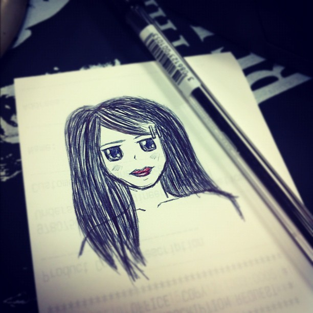 Self portrait? Ha, so bored at work.   (Taken with Instagram)