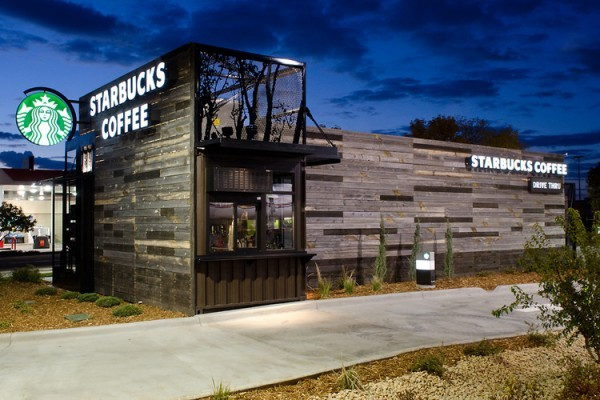 somewordsareuseless:  trendland:  Drive-Thru Starbucks, that is also portable! Now who would like one of these in their town?  This is the sickest Starbucks on earth.