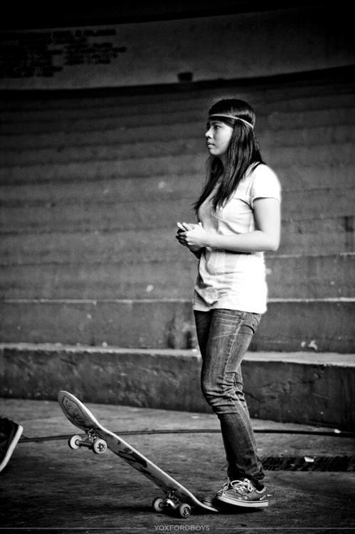Girls, Skateboards and Kickflips - From a skating competition/concert a few days ago. Of course, everyone was falling and failing most of the time but still was a lot of fun to shoot. Also it is worth noting this girl landed a perfect nollie-kickflip a few minutes later and it was super awesome.