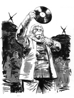 agreeablecomics:  Commissioned sketch by Gabriel Hardman, NYCC 2012.