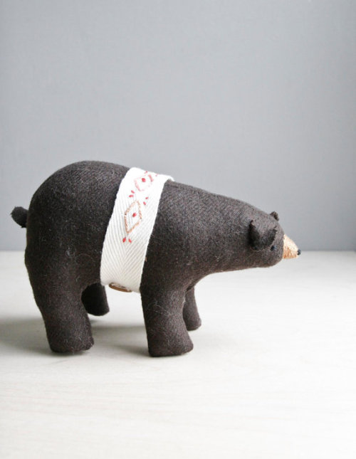 brown bear a proud not-so-little brown bear with a hand embroidered belt. - october 2012 -