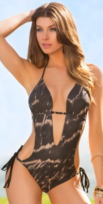 Lady Lux 2013 Monokini Cut Out Swimsuit