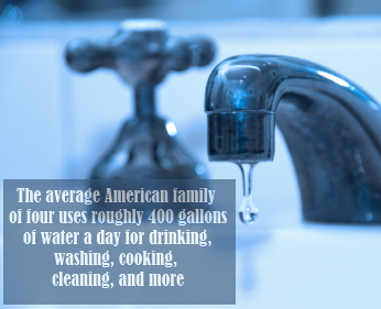 Too bad 25% of treated water in the U.S. is lost due to leakage.