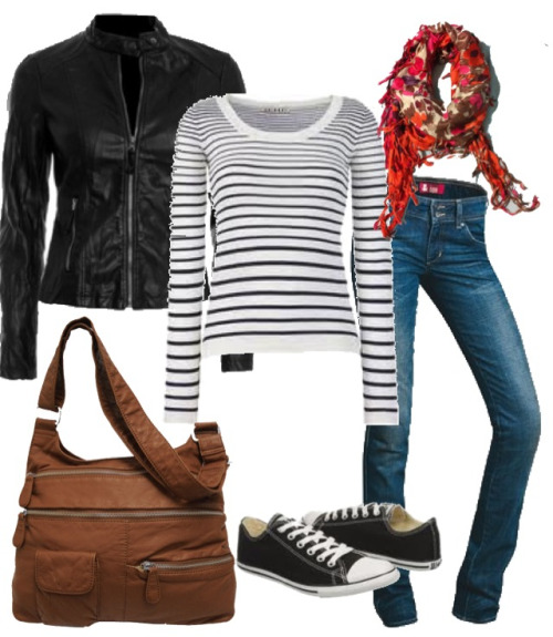 Relaxed look for a chucks & stripes kind of day. #fashion