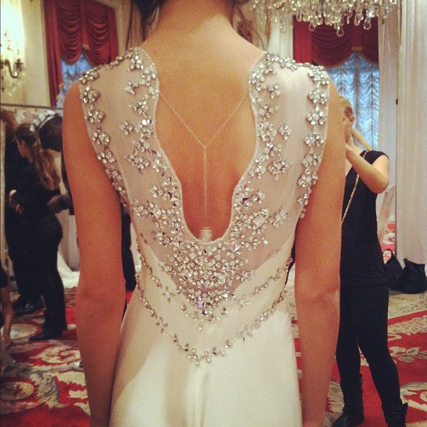 glamour:  File this stunning Jenny Packham gown under Instant Mood Lifter.