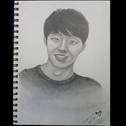 "My best drawing of, kpop idol & K-Drama star, ""Micky"" Yoochun so far… ㅠㅠ And it still looks dreadful! ㅋㅋㅋ~ (Taken with Instagram)"