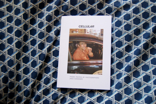 CELLULARCELLULAR features the work of practicing photographers using the accessible and 'low brow' medium of mobile phones to create a portrait of the world around them. Wether it be food, humorous signs and graffiti or landscapes, it is proven that mobile phones are just one of many creative outlets for these young artists. Featuring the work of Ian Bird, Matthew McNulty, Emily Sherwin, George Morris, Patrick Lawrie and Seamus Gough.  Edited by Emily Sherwin. Edition of 30. 60 page full colour, perfect bound, self published.£5 + £1.50 postage.