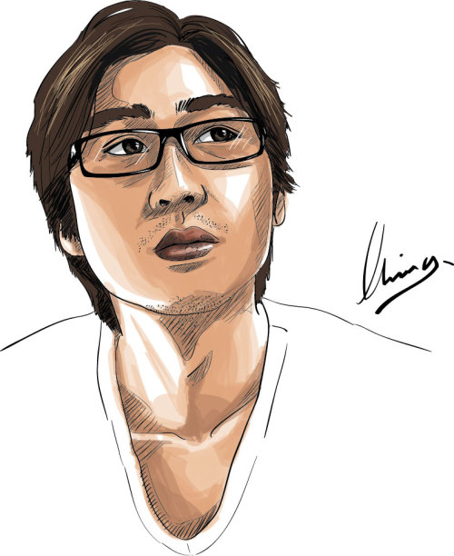 Self portrait digital illustration Done in Adobe Illustrator CS5 and Wacom Pen tablet