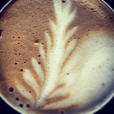 #warm on a cold #autumn day - #latte #leaf #love  (Taken with Instagram)