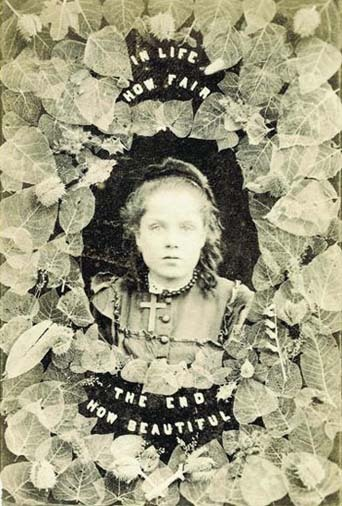 """In Life How Fair, The End How Beautiful"" Albumen Print ""Photography and Death ~ Audrey Linkman"""