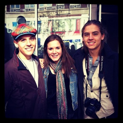 dylan-colesprousewife:  Cole and dyaln with a fan…