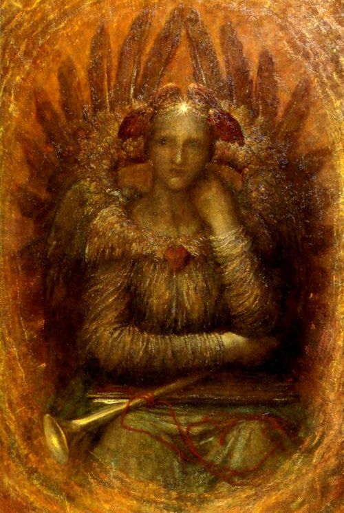 1886 George Frederick Watts (English, 1817-1904) ~ The Dweller Within