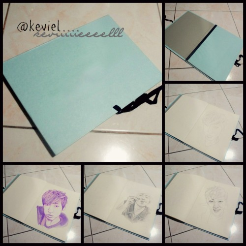 keviiiiieeeelll:  [KEVIN WOO BIRTHDAY PROJECT] by keviiiiieeeelll/@keviel hey guys, I know most of you knows that Kevin's birthday is coming up. and I have this little birthday project for him. And I want you guys to help me, and be part of it :) I'll make sure Kevin will get this. So here's the plan… I have this book, a 100 personalized book, filled with my drawings, from his baby picture til now..see example on the picture :) (Kevin's evolution book, LOL. i know the name is kinda funny, i'm sorry~ ) I made this a long time ago, and I decided to share it with you guys and also for you to participate. You can make letters, and drawings, or photo collage or photo edits.. handwritten or digitally made, then scan/email it to my account, (bhezviel_07@yahoo.com), or tweet me at, (@keviel) and I'll print it on a special paper and paste it here on the book. Just don't forget to add your name, and country. :) Deadline is on Oct 28, 11PM KST :D Thank You. Hope you guys will participate :) I'll wait for your letters :P If you have questions, just message me here on tumblr, or just tweet me, @keviel :D