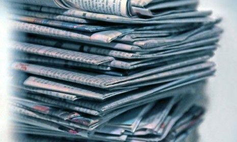 A new Pew poll says just 23 percent of Americans now read a print newspaper, that's declined by 18 percentage points in the last 10 years.  More stats