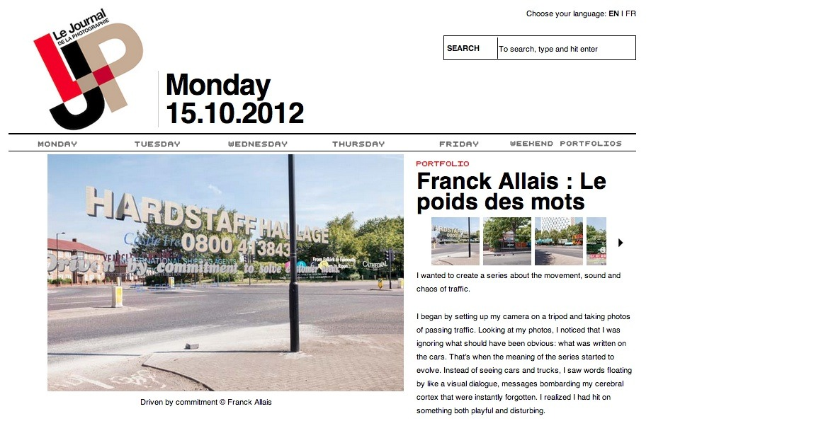New work from Franck Allais featured on La Journal de la Photographie.