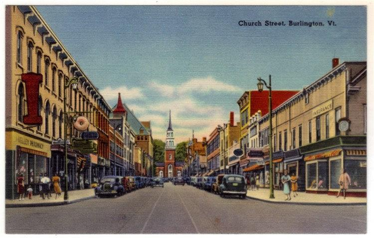 1940's Church Street, Burlington VT