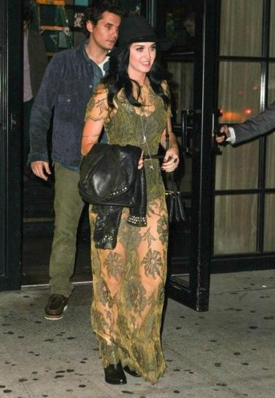 new couple Katy Perry + John Mayer out to dinner last night in NYC