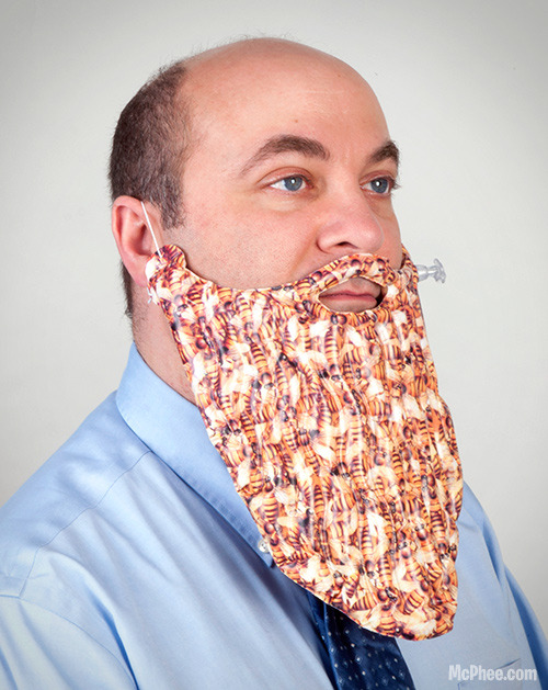 Inflatable Beard of Bees - Having an actual beard of bees is dangerous! This inflatable version won't sting you and it still impresses the opposite sex. It's the bee beard you've always dreamed of owning.