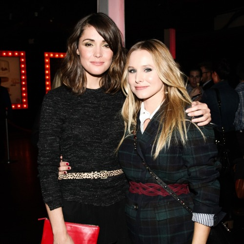 "pblcty:  Rose Byrne and Kristen Bell celebrating Target's First Shoppable Movie ""Falling For You"" in New York City."