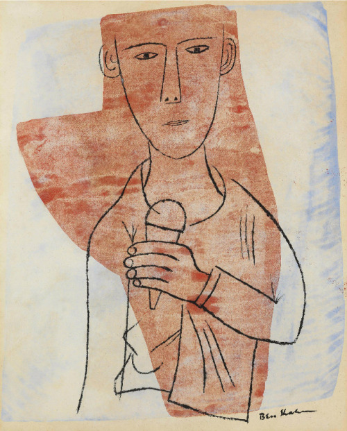 freakyfauna:  Boy with Ice Cream (Single Dip) by Ben Shahn. Found here (via sugarmeows).