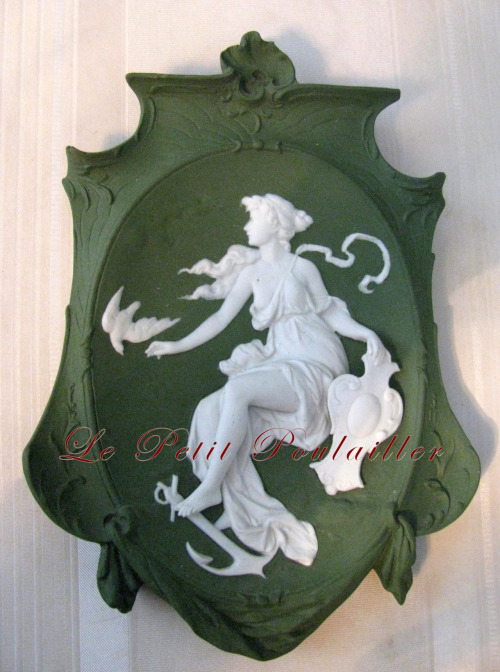 Edwardian Art Nouveau Jasperware plaque … in my shop now!