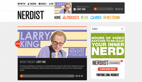 Hey! I was kindly asked to do the artwork for the latest Nerdist podcast episode- it's with Larry King! CHECK IT OUT! See my other podcast artwork here.