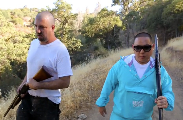 Fresh off the Boat with Eddie Huang - Bay Area, Part 1  Eddie's first stop in the Bay Area is Oakland, where he hangs with a local biker gang that shows hipsters how to shoot guns and hunt for rabbit. After a few gruesome hours in the Oakland outback, they head back to the clubhouse to shoot the shit, throw back a few cold ones, and talk about the disconnect between people and the process it takes to put meat on their plates. Then they cook up a delicious meal of southern-style deep-fried rabbit. Watch it here