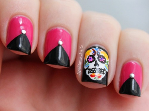 spektorsnails:  Sugar Skull Nails