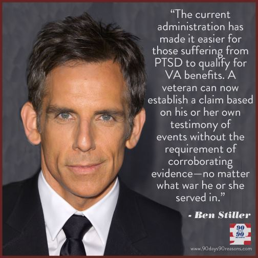90days-90reasons:  REASON 69 by Ben Stiller President Obama has improved conditions for our active and retired military. Continue reading…