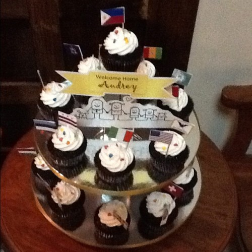 My welcome cupcake tower. Gosh, I missed home. I smell tinapa cooking from the kitchen! (Taken with Instagram)