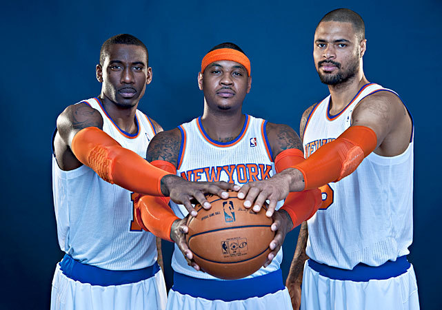 The Knicks are back, but can Amar'e Stoudemire, Carmelo Anthony and Tyson Chandler lead New York to a championship? Few can argue the fact that the Knicks have vastly improved since last season. The acquisition of veterans Jason Kidd, Marcus Camby, Kurt Thomas and Rasheed Wallace should solidify a second unit that struggled at times last season. SI's Ian Thomsen thinks New York finally has the talent to overtake the Celtics and win the Atlantic Division. Do you agree? (Jennifer Pottheiser/NBAE via Getty Images) THOMSEN: Atlantic Division Preview | Chemistry problems for Knicks?ROUNDTABLE: Assessing this year's crop of rookies